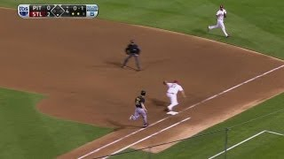 PIT@STL Gm5: Kozma fires strong throw to get Morneau
