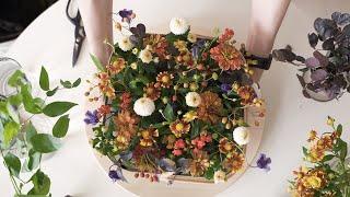 이케아 바구니로 만든 플라워 바스켓/ Flower Ba…