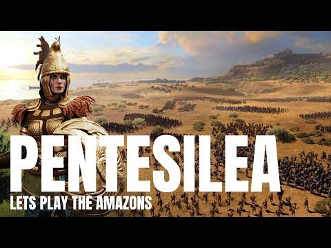 The Amazon Horde is here | Pentesilea | Totalwar Saga: Troy #1 |