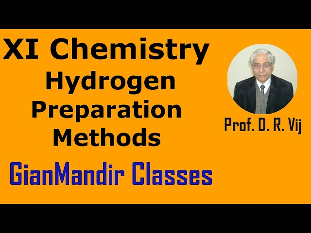 XI Chemistry - Hydrogen - Preparation Methods by Ruchi Mam