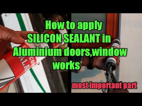 HOW TO APPLY SILICON SEALANT IN ALUMINIUM WORKS// complete video guide