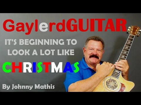 """Johnny Mathis """"It's Beginning to look a lot like Christmas"""" Guitar Lesson- LEARN TO PLAY GUITAR"""