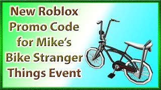 How to Get Mike's Bike | Stranger Things Event Day 3 | New ROBLOX Promo Code | 2019 July