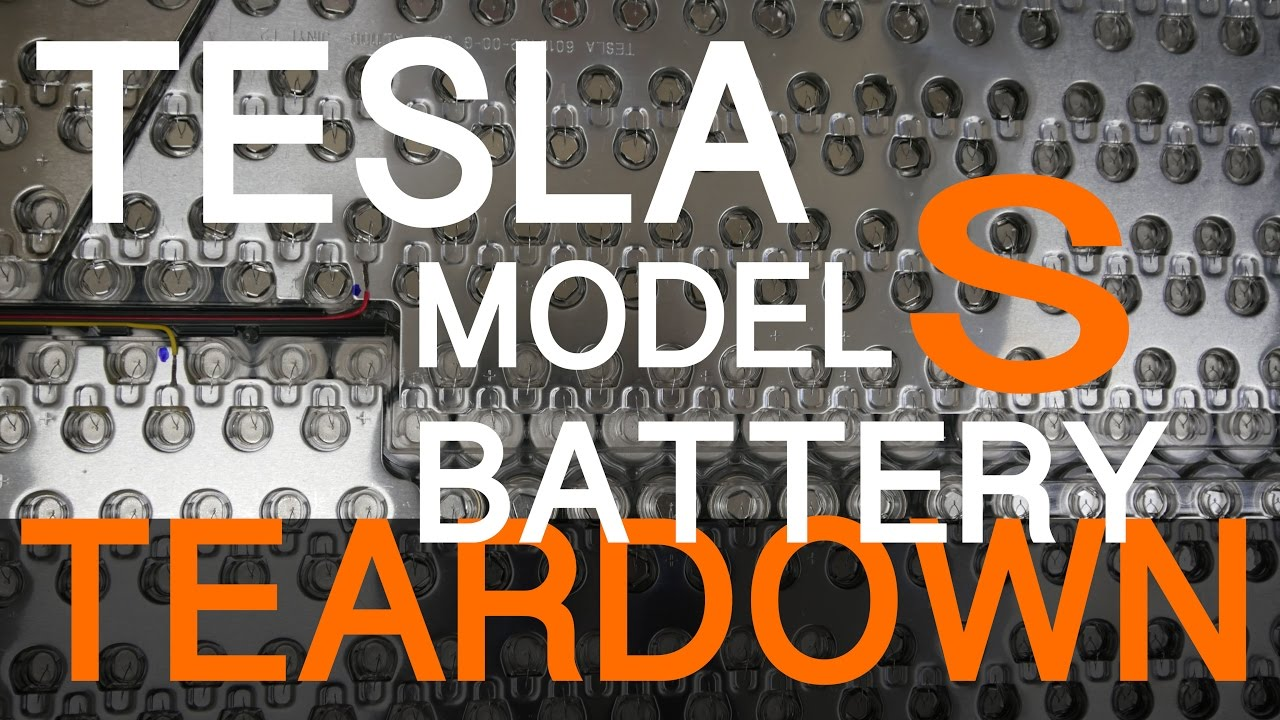 hight resolution of tesla model s battery teardown