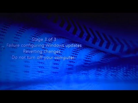 failed to configure windows reverting changes