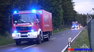 [schweres Unwetter] Einsatzfahrzeuge Feuerwehr + DLRG + THW Landkreise Rhein-Hunsrück und Birkenfeld