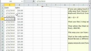 Excel Magic Trick 482: 2 Pivot Tables with Different Date Groupings On Same Sheet