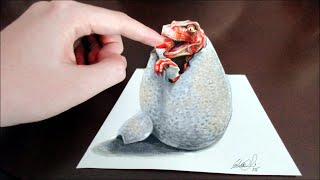 3D drawing-baby raptor (Is it real!?!)