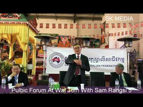 SK Media Report By Mr Korb Sao At Wat Tom  Pulbic Forum With Sam Rangsi 5