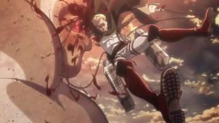 Commander Erwin Loses His Arm Epic Scene Attack On Titan Season 2 Episode 11 HD