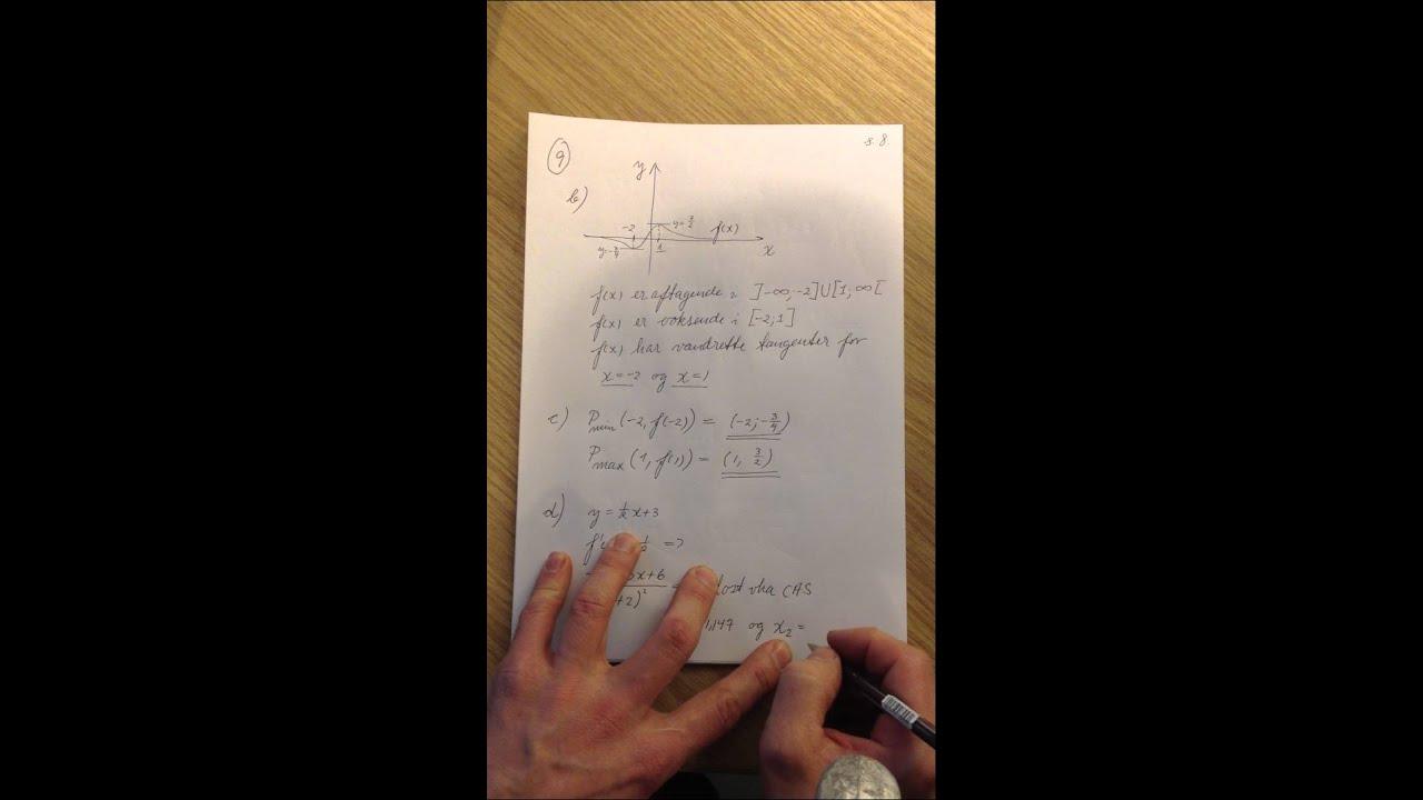 Mat B eksamenssæt december 2011 del 10