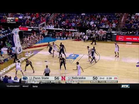 Penn State vs. Nebraska - 2017 Big Ten Men's Basketball Tournament Highlights