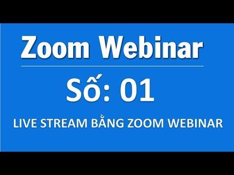 Webinar 01:  Hướng dẫn Live Stream bằng Zoom Webinar – VinaMos.vn –  Hotline tư vấn: 0919198610