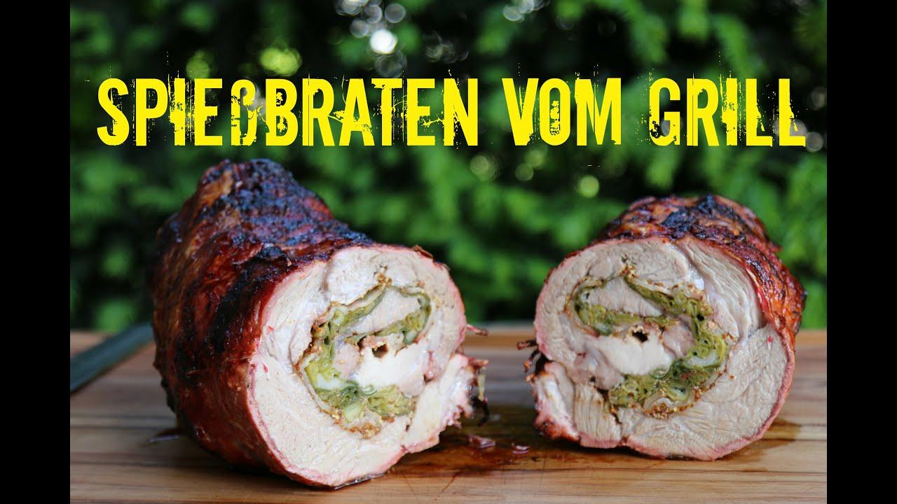 Rösle Gasgrill Indirektes Grillen : Spießbraten mit frühlingszwiebeln und bacon vom grill youtube