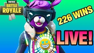 226 WINS *TOTAL* NEW DJ BOP SKIN! (Funny Fortnite Live Stream)