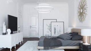 Дизайн интерьера квартиры в неоклассическом стиле.(Дизайн студия «HQ Design Studio» разработала эксклюзивный дизайн-проект квартиры площадью 237.5 м2 в неоклассическо..., 2016-01-19T10:26:07.000Z)
