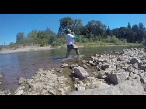 Fishing en lewis river woodland wa youtube for Lewis river fishing report