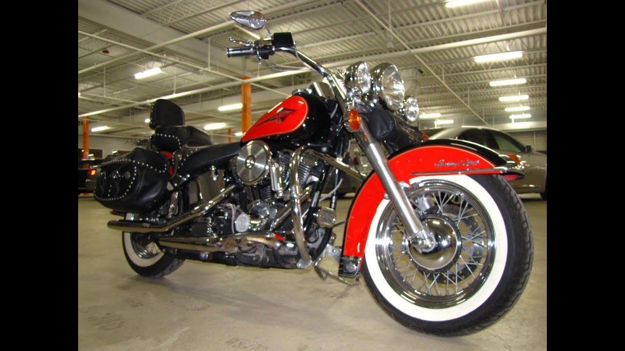 Harley Road King For Sale >> 1993 HARLEY-DAVIDSON HERITAGE SOFTAIL FLSTC - YouTube