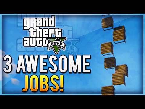 GTA 5 EPIC JOBS - 3 Fun Gamemodes Online (Tower Of Death, Windmills of Doom, Modded Vehicles!)