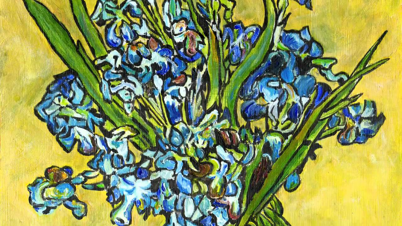 Acrylic painting irises in a vase by fine artist ruth burton acrylic painting irises in a vase by fine artist ruth burton after van gogh youtube reviewsmspy