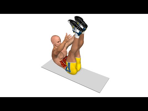 Six Pack Abs - Crunch With Vertical Legs And Touch Of The Ankles