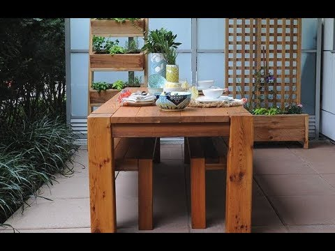 How to build : Modern Dining Table - RealCedar