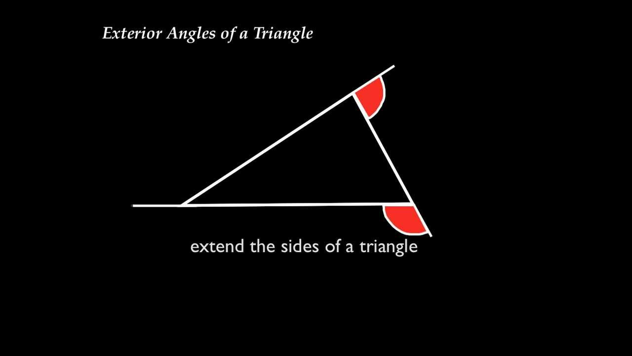 Exterior angles of a triangle exterior angle for Exterior angle theorem