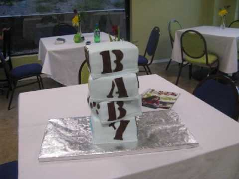 how to make a baby block cake