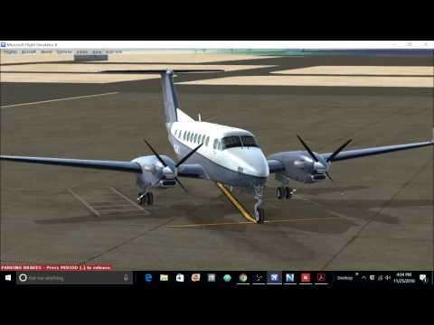 FSX Carenado Beechcraft King Air 350i Tutorial Part 1- Cold & dark to airborne and climbing