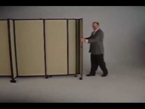 Elegant PortablePartitions.com StraightWall Portable Partition   YouTube