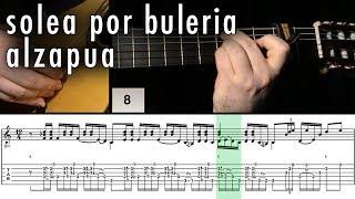 Flamenco Guitar 102 - 18 Solea por Buleria Alzapua