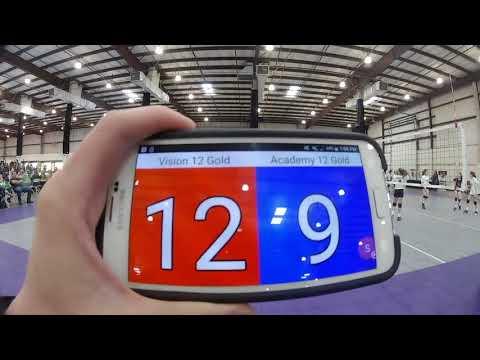 2018-02-03 NCVA PLQ M4G2: Vision 12G vs Academy Volleyball 12 Gold