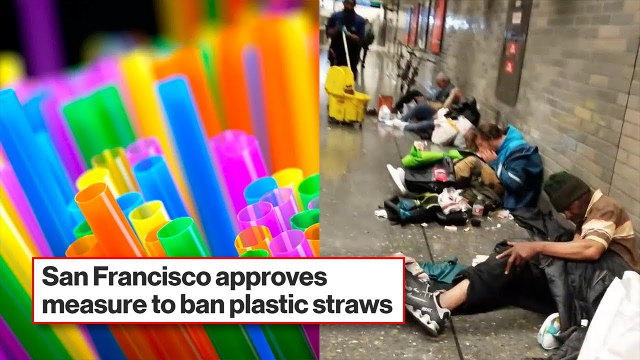 San Francisco bans plastic straws, but streets are littered with free hypodermic needle caps