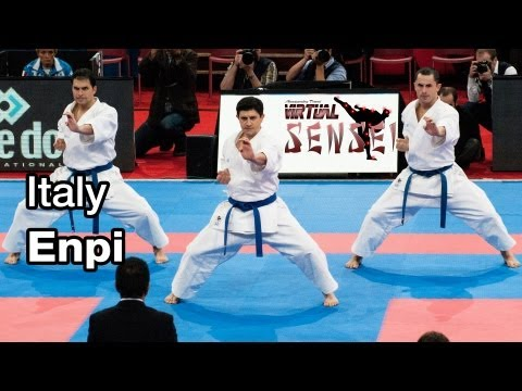 Italy male team - Kata Enpi - 21st WKF World Karate Championships Paris Bercy 2012