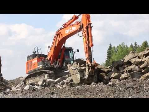 Hitachi ZX470LCH-5 large excavators in action in Norway