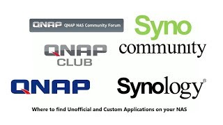 Unofficial and Custom Apps on your Synology and QNAP NAS