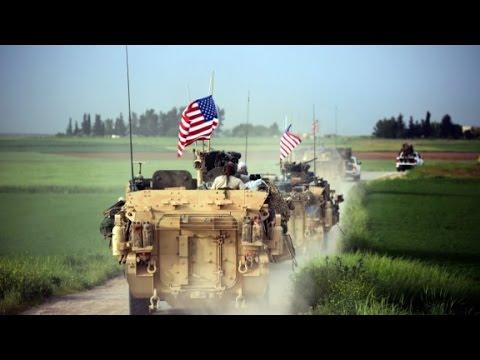 US Troops Patrol Syria's Border With Turkey