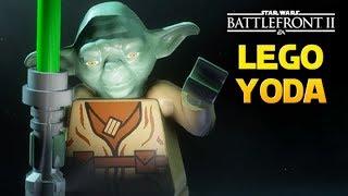 LEGO YODA! Star Wars Battlefront 2 PL