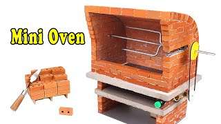 HOW TO BUILD A Automatic rotation Mini Oven from Mini Bricks - BRICKLAYING -Mini BBQ