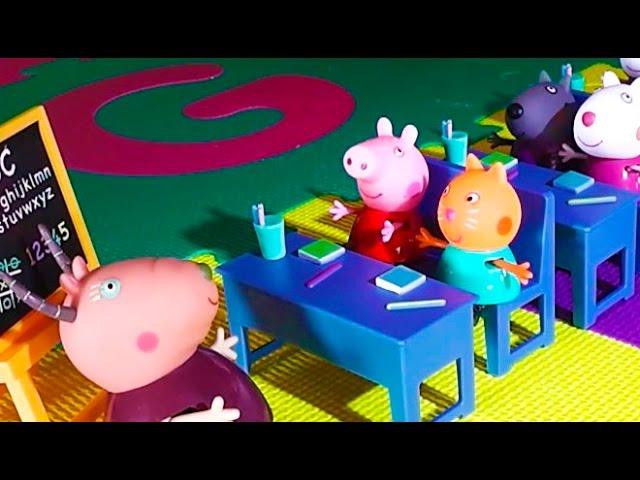 Juguete de Peppa Pig. Vamos al cole con Peppa Pig la cerdita en español Videos De Viajes