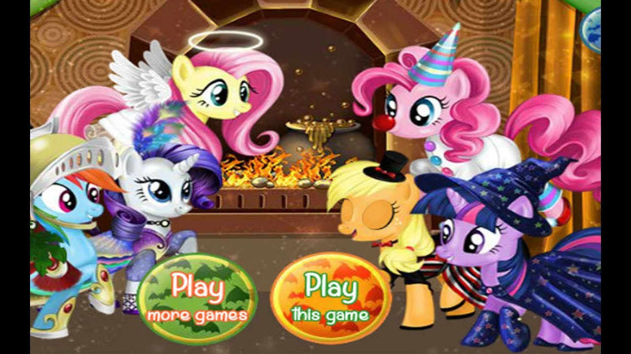 My Little Pony Halloween Party Kids Games Youtube