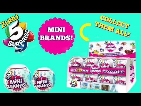 I Found The 5 Surprise Mini Brands Watch The Blind Bag Unboxing