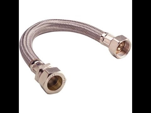 How to fit a flexi connector.Great for use in fitting new taps,new ...