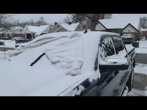 Jesse tried a hack to help him clean the snow off his windshield. It worked!!