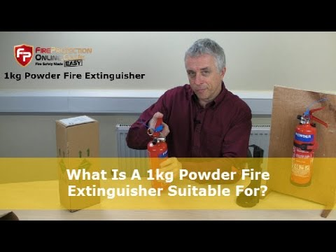 What Is A 1kg Powder Fire Extinguisher Suitable For?