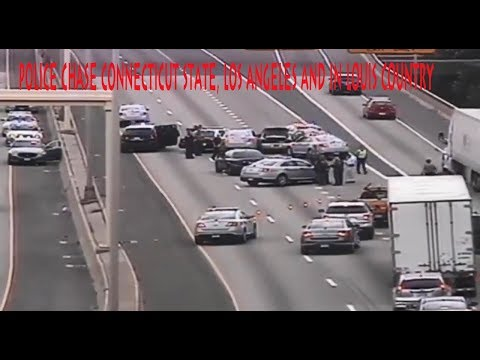 police chase connecticut state, los angeles and in louis country