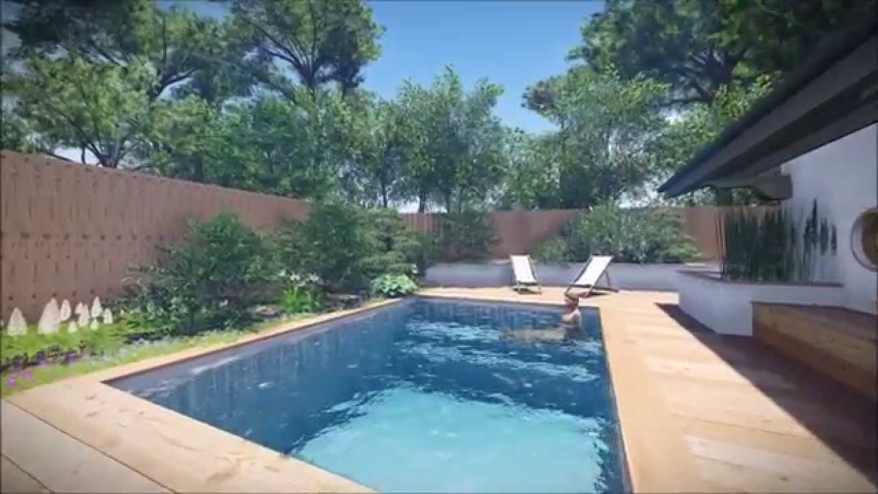 plan de petite piscine plan de petit jardin youtube. Black Bedroom Furniture Sets. Home Design Ideas