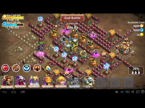 Castle Clash Vlad Dracula 7/9 Skill, 5/5 Life Drain