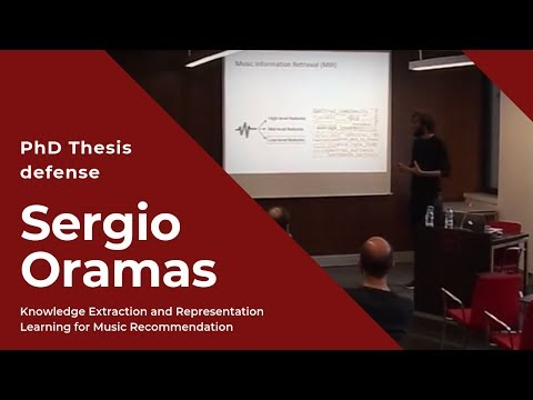 PhD Thesis Sergio Oramas - Knowledge Extraction and Representation Learning for Music Recommendation