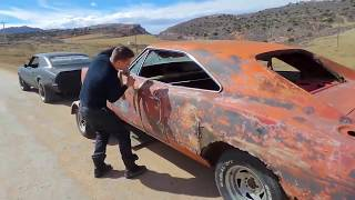 cross country roadtrip in a 1968 firebird hauling a dodge charger and 66 mustang. thumbnail